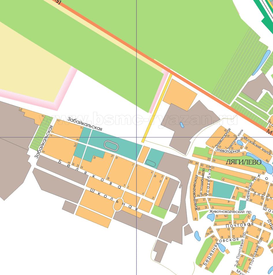 Карта города рязани